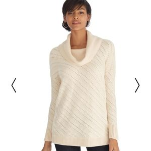 NWT WHBM Open Weave Sweater M